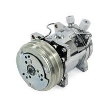 A-Team Performance Sanden 508 Style Silver Clutch V-Belt A/C Compressor, Chrome