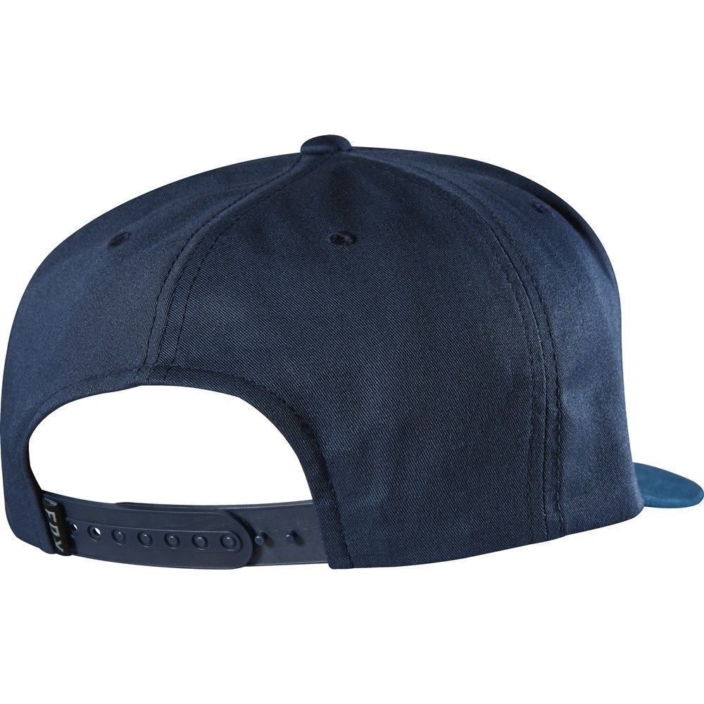 "Men's Fox ""blocked"" Snapback Adjustable Hat Cap One Size In Indigo"