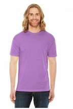 Marky G apparel men's poly  cotton  usa made crew neck  t shirt  orchid Sz MED