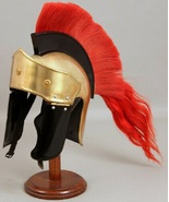 Aalekha Pop 18G Medieval SCA LARP Roman Gallic/Centurian Helmet Cosplay ... - $95.00
