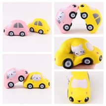 Squishy Cat Compact Car Soft Slow Rising Stretchy Squeeze Fun Toy Relieve Stress - $7.59