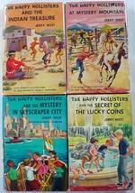 The Happy Hollisters 4 LOT Indian Treasure Mystery Mountain Skyscraper C... - $16.00