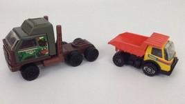 Diecast Tonka Construction Vehicles Toys Dump Truck Semi Army Military Vintage - $12.82