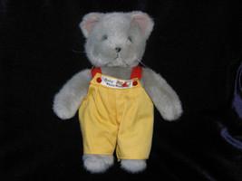 "Manhattan Toy Yellow Gray Cat Vtg Baby Mate 10"" Plush Doll Stuffed Animal Lovey - $17.41"