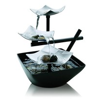 Table Fountain, Homedics Silver Springs Small Modern Table Top Fountain ... - $48.99
