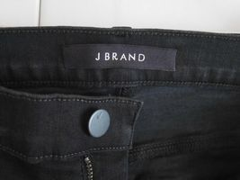 $198 NEW J Brand Maria - High Rise Skinny in Black Heart Destroyed - Size 29 image 8