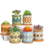 AlpsPro Succulent Plant Pots - 3.5 inch Ceramic Succulent Planter - Smal... - $52.99