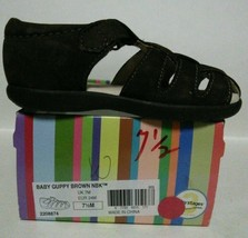 NEW STRIDE RITE Baby Guppy Brown Nubuck Sandals (Size 7.5 M) - $19.95