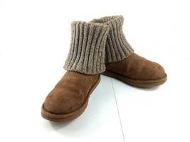 UGG Australia Cambridge 8 Womens Brown Suede Winter Boots  Booties Missing Strap - $39.42