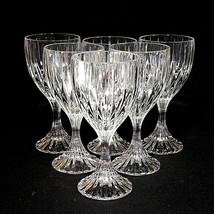 6 (Six) MIKASA PARK LANE Cut Lead Crystal Water Goblets Glasses DISCONTI... - $118.74