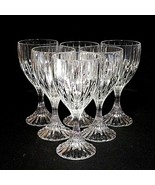 6 (Six) MIKASA PARK LANE Cut Lead Crystal Water Goblets Glasses DISCONTI... - $118.74