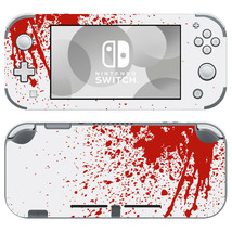 Nintendo Switch Lite Console Skin Decals Stickers Covers Vinyl Blood Spatter Red - $9.50