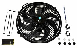"16"" Heavy Duty Radiator Electric Wide Curved Blade FAN 3000 CFM Reversible"