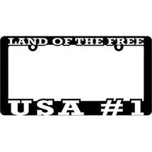 USA #1 Land of the Free - Auto License Plate Frame - $14.84