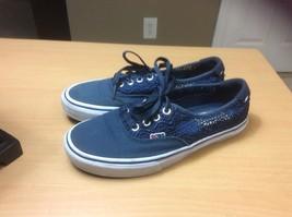 BOBS California Skechers the MENACE of MAZE  33845 Navy Sneaker 6.5 medium - £17.50 GBP