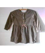 Hanna Andersson Girls Corduroy Dress Brown 110 Size 5 - $9.74