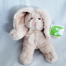 Animal Adventure Tan Easter Bunny Rabbit Plush Stuffed Animal Pink Nose ... - $15.83