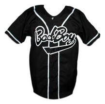 Biggie Smalls #10 Bad Boy Baseball Jersey Button Down Black Any Size image 1