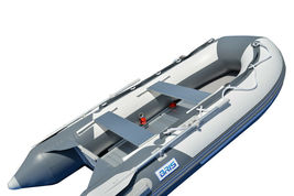 BRIS 9.8 ft Inflatable Boat Dinghy 4 Person Pontoon Boat Tender Fishing Raft image 5