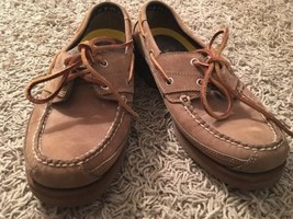 Timberland Mens Suede Leather Lace-up Boat Shoes, Size 7M - $34.99