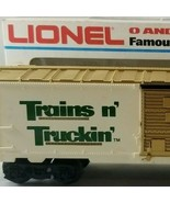 Lionel Trains n' Truckin' Box Car O Gauge Collectors Series Rolling Stoc... - $17.99