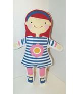 Sophi Lili GIGI Doll cloth fabric red hair blue striped pink flower dres... - $9.89