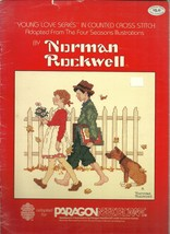 Norman Rockwell Young Love Series Vintage Cross Stitch Pattern Booklet 4... - $6.99