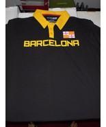Barcelona Soccer Futbol Adult Size X-Large Black Polo Shirt NEW W Tags F... - $16.37