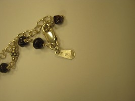MARKED INDIA SILVER AND DARK SMALL BEADS NECKLACE - $247.50