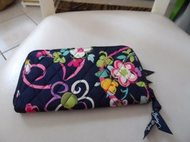 Vera Bradley zip around wallet in retired Ribbons pattern - $21.00