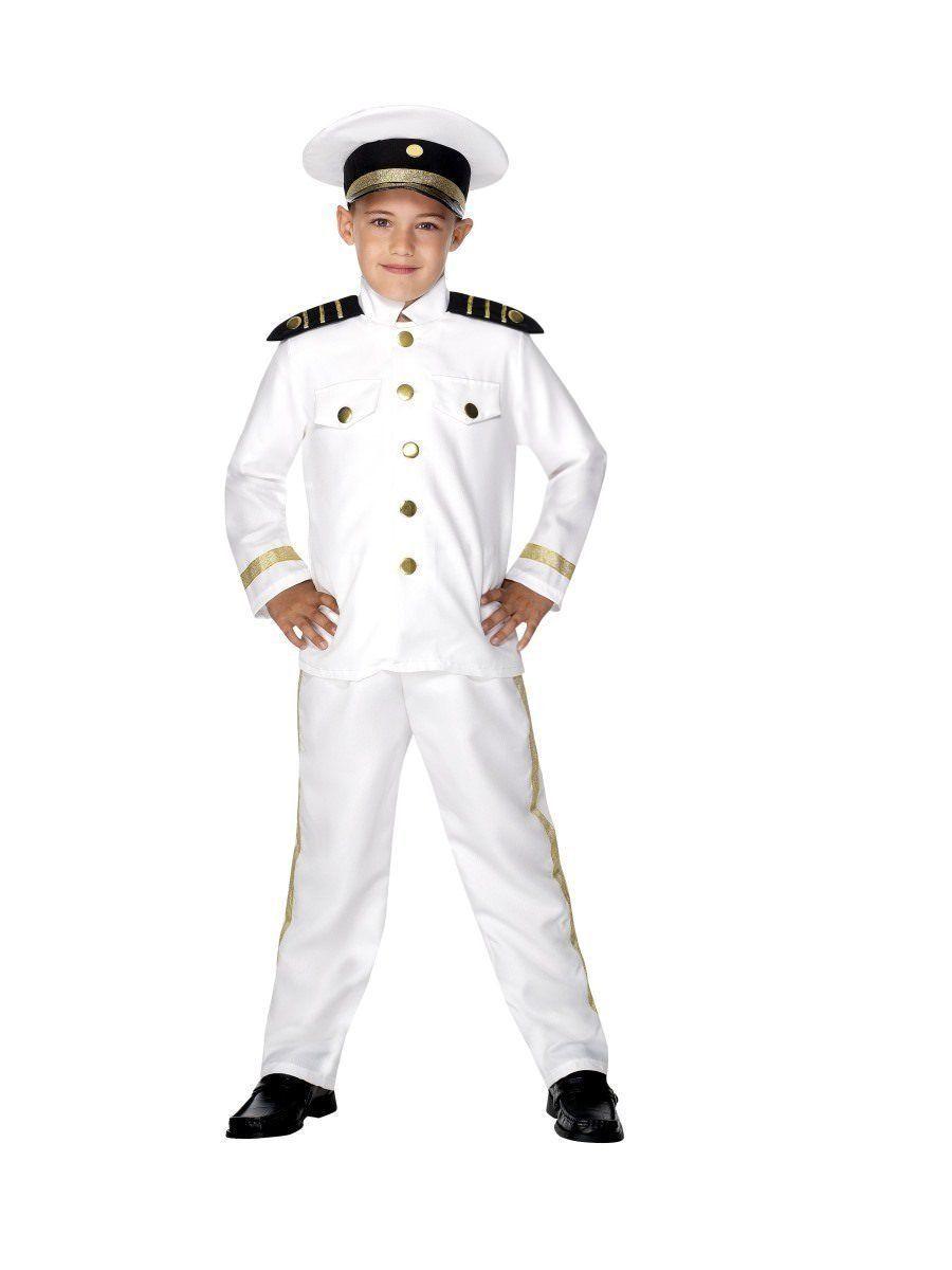 Smiffys Captain Nautical Sea Boat Dress Up Child Boys Halloween Costume 30025