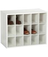 White 15 Cube Organizer Stackable Shoe Storage Shelves Closet Accessory ... - $62.27