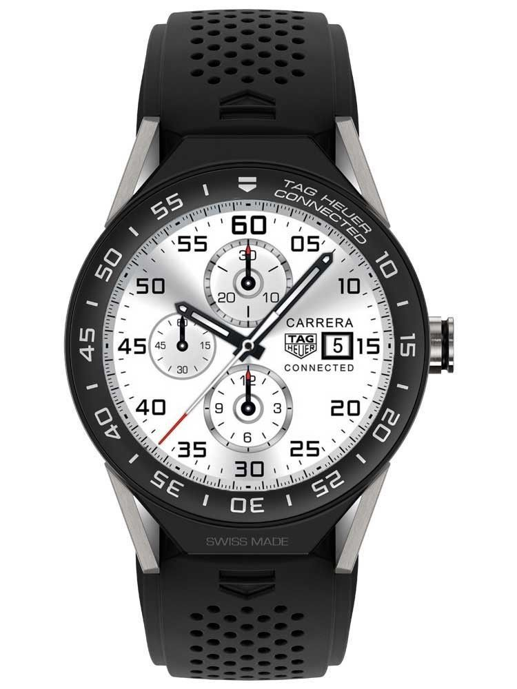 Tag Heuer Men's SBF8A8001.11FT6076 Connected Modular 45 Black Rubber Watch