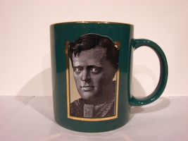 Barrnes & Noble ~ Jack London  ~ Green Ceramic Coffee Cup Mug - $5.99