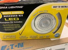 "Lithonia Lighting 3"" White Recessed Gimbals LED Light Ceiling Kit New Open Box - $36.11"