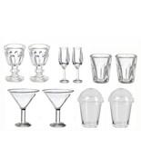 DOLLHOUSE MINIATURES 10PC GLASSWARE SET #G7515 - $8.50