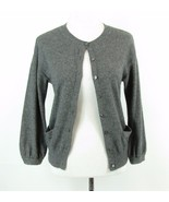 VINCE Size S Gray Cashmere Button Up Sweater Cardigan 3/4 Sleeves - $34.99