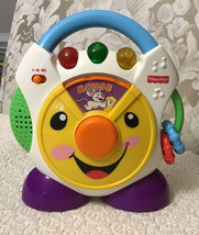 Fisher Price Nursery Rhymes CD Player - H6319, 3 Dancing Colored Lights & Music - $17.82