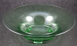 Fairfax, Green, 12. Inch, Flared, 3 Toed Bowl, made by Fostoria - $14.00