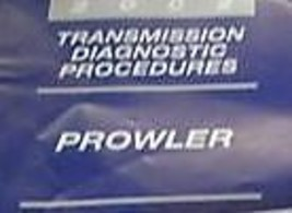 2002 Plymouth Prowler Transmission Diagnostics Procedures Service Repair Manual - $7.96