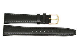50 PCS Timex 18mm Black Stitched Clik-On Genuine Leather Watch Band Strap - $19.79