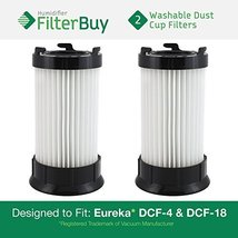 2 - Eureka DCF-4 (DCF4) DCF-18 (DCF18) & GE DCF-1 (DCF1) Washable and Re... - $17.98
