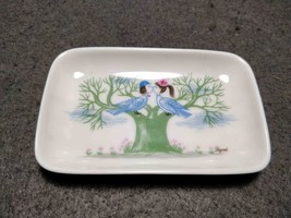 RARE VINTAGE PORCELAIN SMALL TRAY DISCONTINUED BIRDS COUPLE ROSENTHAL PE... - $49.99