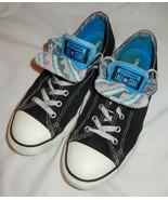 Converse All Star Black Double Tongue Sneakers Shoes Women's 8/Jr Men's 6 - $17.99