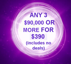 THROUGH FRI PICK 3 $90,000 OR MORE FOR $390 INCLUDES NO DEALS MYSTICAL T... - $0.00
