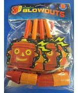 Party Bots Toy 3D Robot Space Boys Kids Birthday Party Favor Horns Blowouts - $7.17