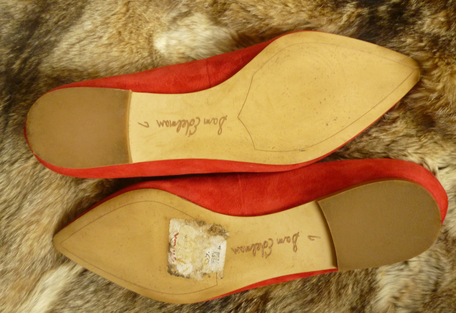 Sam Edelman Rae Flats Size 7 Color Tango Red