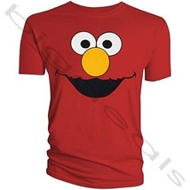 Elmo Face Sesame Street T-Shirt St Cotton Cartoon Eye Mouth Funny Monste... - $15.99+