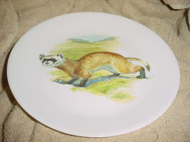 CORELLE CORNING RARE WEASEL WESTERN STYLE LIMITED EDITION DINNER PLATE - $26.17