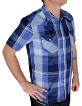 BRAND NEW LEVI'S MEN'S CLASSIC CASUAL BUTTON UP PLAID BLUE SHIRT 3LYSW6062-DBLU image 2